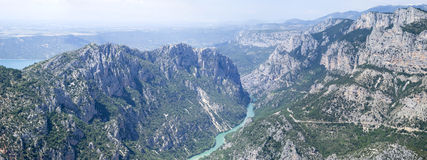 Grand Canyon du Verdon, Frankrike Arkivfoton