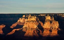 The Grand Canyon at Dusk Stock Image