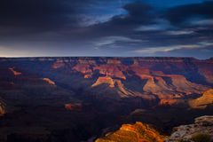 Grand Canyon at Dusk Stock Images