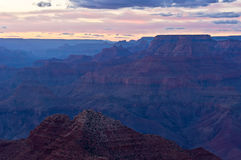 Grand Canyon dusk Stock Photos