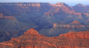 Grand Canyon At Dusk. Dusk falls over the incredible Grand Canyon,  captured from Mather Point in Grand Canyon National Park, Arizona Stock Images