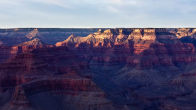 The Grand Canyon at Dusk Royalty Free Stock Photography