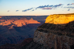 Grand canyon at dusk Royalty Free Stock Images