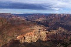 Grand Canyon en de rivier van Colorado van de Woestijnmening in Arizona; De V.S. Stock Fotografie