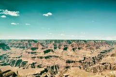 Grand Canyon en hemel Royalty-vrije Stock Foto's