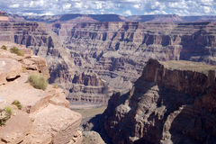 Grand Canyon et le fleuve Colorado Photo stock