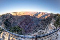 Grand Canyon Fisheye View Royalty Free Stock Photography
