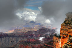Grand Canyon Fog Royalty Free Stock Photos