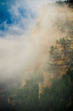 Grand Canyon in the fog Royalty Free Stock Photo