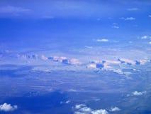 Grand Canyon från flygplanet Arkivbild