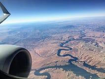 Grand Canyon från luften fotografering för bildbyråer