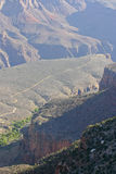 Grand Canyon Geomorphology and Distant River Stock Photo