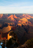 Grand Canyon After Glow. Majestic Vista of the Grand Canyon at Dusk Stock Photo