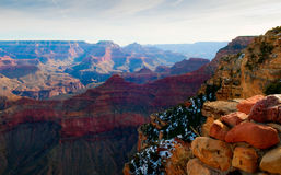 Grand Canyon After Glow. Majestic Vista of the Grand Canyon at Dusk Stock Photography