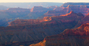 Grand Canyon After Glow. Majestic Vista of the Grand Canyon at Dusk Royalty Free Stock Photo