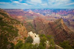 Grand Canyon Grand View Point. After sunrise Royalty Free Stock Photos