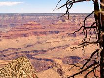 Grand Canyon, Grandview Point. View across the Grand Canyon from Grandview Point on the South Rim Stock Image