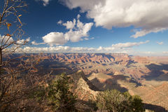 Grand Canyon Grandview Point. Clouds over Grand Canyon at Grandview Point, Arizona Stock Images