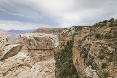 The Grand Canyon with Gray Skies stock image