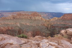 Grand canyon. The great grand canyon at the west point arizona, Aborigines resort and the Colorado river Stock Images