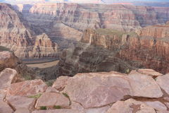 Grand canyon. The great grand canyon at the west point arizona, Aborigines resort and the Colorado river Stock Photo