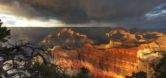 Grand Canyon - HDR dramatic light Royalty Free Stock Images