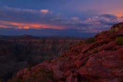 Grand Canyon -het Westen Rim Guano Point Royalty-vrije Stock Afbeeldingen