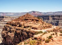 Grand Canyon -het Westenrand - Eagle Point-mening - Arizona, AZ Stock Fotografie