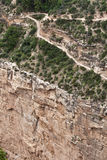 Grand Canyon - hike trails Royalty Free Stock Image