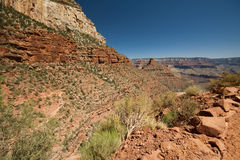 Grand Canyon - hike trails Royalty Free Stock Photo
