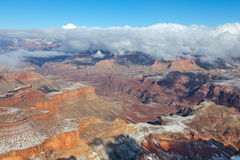 Grand Canyon hivernal Image stock