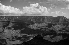 Grand Canyon i svartvitt Arkivbild