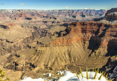 Grand Canyon i vinter, USA Arkivfoto