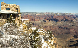 Grand Canyon i vinter, USA Arkivfoton