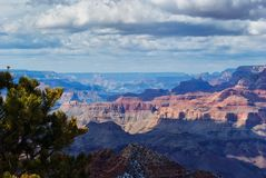 Grand Canyon im Winter Stockfotos