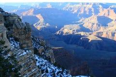 Grand Canyon im Winter stockbilder