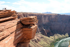 Grand Canyon. Image of some people looking the Horse Shoe at the Grand Canyon Royalty Free Stock Photos