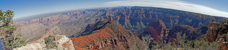 Grand Canyon  Imperial Point Panorama Stock Image