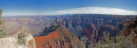 Grand Canyon  Imperial Point Panorama Royalty Free Stock Images