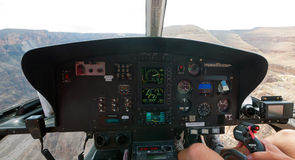 Grand Canyon from inside a helicopter Royalty Free Stock Photo