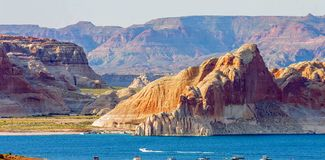 Grand Canyon Lake in Grand Canyon National Park, Arizona, United States of America stock photos