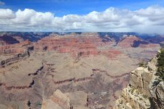 Grand Canyon landscape. In Arizona, United States. Colorado River visible. Pima Point view Stock Image