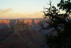 Grand Canyon -Landschap bij Schemer royalty-vrije stock fotografie