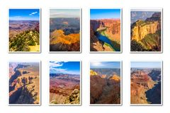 Grand Canyon -landschappencollage Royalty-vrije Stock Foto's