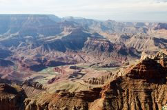 Grand Canyon le Colorado Etats-Unis, Arizona, point de Lipan Photographie stock