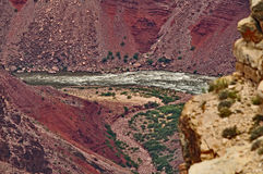 Grand Canyon le fleuve Colorado Photo libre de droits