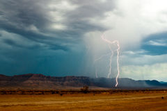 Grand Canyon Lightning Royalty Free Stock Photo