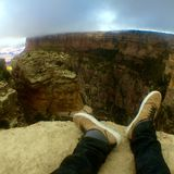 Grand Canyon. Living on the edge Stock Image