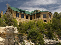 Grand Canyon Lodge 2. Grand Canyon Lodge, North Rim, from a canyon overlook Stock Photos