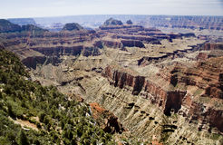 Grand canyon lookout Royalty Free Stock Photography
